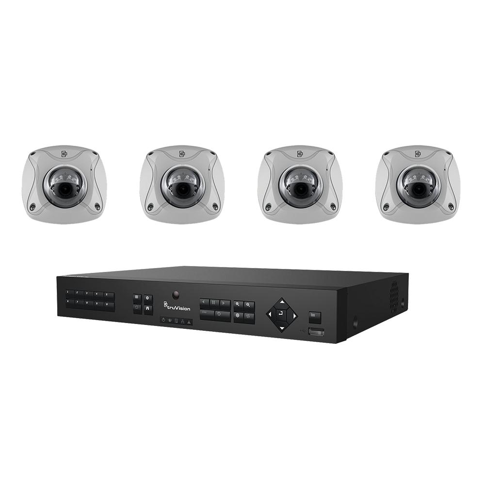 Interlogix TVN-1104-KW1 - 4-Channel Kit w/4 2MPx (2 8mm lens) IR